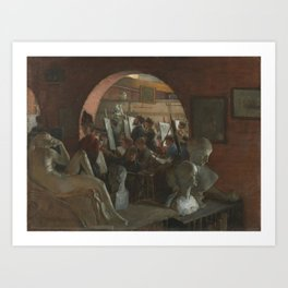 Charles Courtney Curran - An Alcove in the Art Students' League Art Print