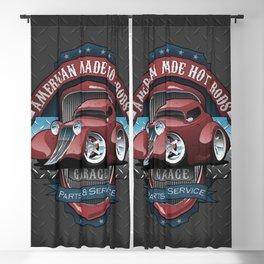 American Hot Rods Garage Vintage Car Sign Cartoon Blackout Curtain
