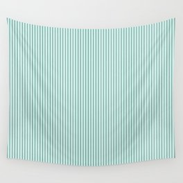 Mint Sampler Stripes Wall Tapestry