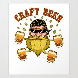 Craft Beer Beer Snob Ipa Beer Microbrewing Art Print