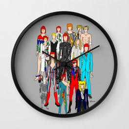 Heroes Doodle Wall Clock