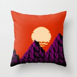 DEEP SUNSET Throw Pillow