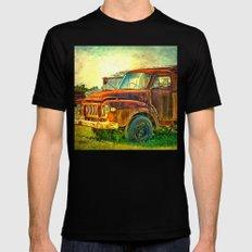 Old Rusty Bedford Truck Mens Fitted Tee Black MEDIUM