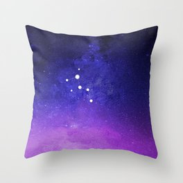 Cassiopeia Constellation with the Milky Way Throw Pillow