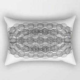 GEOMETRIC NATURE: COULOMB CRYSTAL b/w Rectangular Pillow