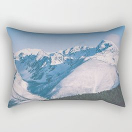 Snow Capped Peaks Rectangular Pillow