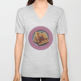 Waffles With Syrup Unisex V-Neck