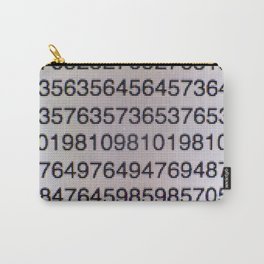 Numbers on a computer screen Carry-All Pouch