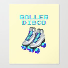 70's and 80's Throwback Funny Vintage Retro Roller disco Canvas Print