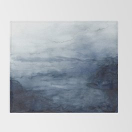 Indigo Abstract Painting | No.2 Throw Blanket