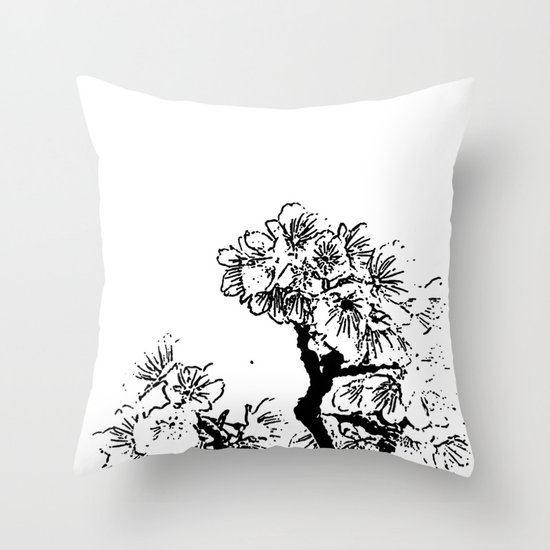 Cherry Blossom #7 Throw Pillow