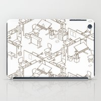 the office iPad Cases featuring office by anil yanik