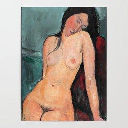 "Amedeo Modigliani ""Female nude (Iris Tree)"" Poster"