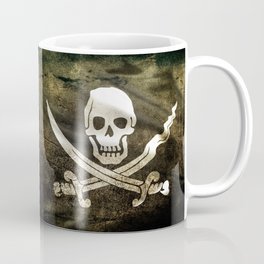 Pirate Skull in Cross Swords Coffee Mug