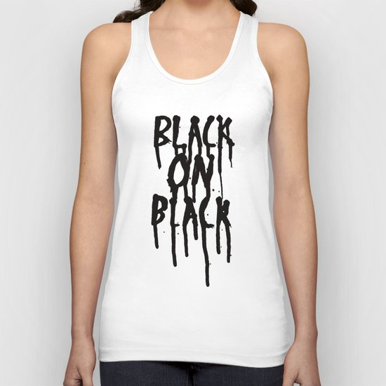 Black on black Unisex Tank Top