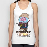 returns Tank Tops featuring country returns by benjamin chaubard