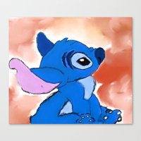 stitch Canvas Prints featuring STITCH  by Taylor Perren