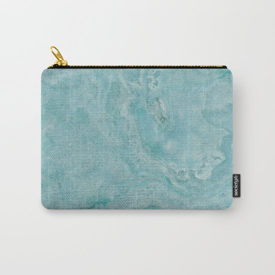 Turquoise marble Carry-All Pouch