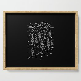 Hiking Trails Serving Tray