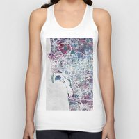 san diego Tank Tops featuring San Diego map by MapMapMaps.Watercolors