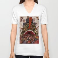 swallow V-neck T-shirts featuring swallow frogs by zansky