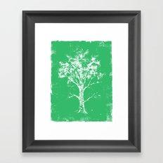 Green Tree Framed Art Print