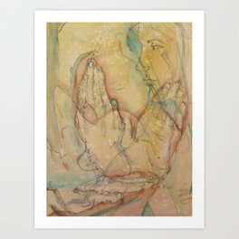 Three Hands Art Print