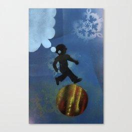 Boy Jumps Over Moon Canvas Print