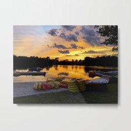 Fiddle Lake Sunset Metal Print