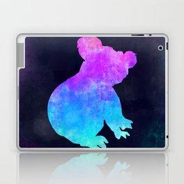 KOALA IN SPACE // Animal Graphic Art // Watercolor Canvas Painting // Modern Minimal Cute Laptop & iPad Skin