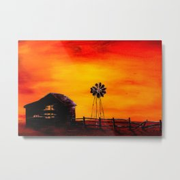 Sunset on the Homestead Metal Print