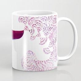Breath Portrait Magents Coffee Mug