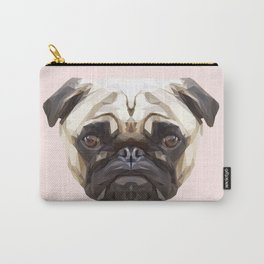 Pug // Pastel Pink Carry-All Pouch