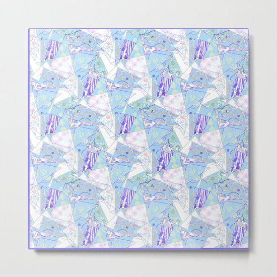 Abstract, floral, geometric pattern. Metal Print