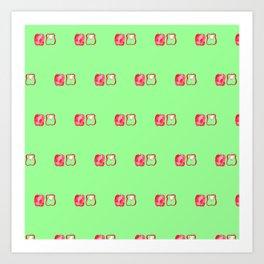 Pepper pattern Art Print