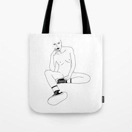 A Womans Stare Tote Bag