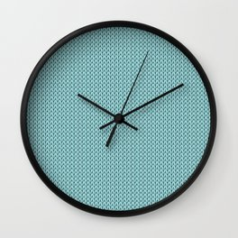 Knitted spring colors - Pantone Island Paradise Wall Clock