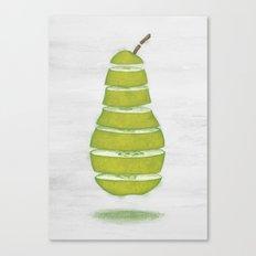 A Pear Apart Canvas Print