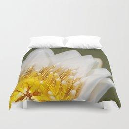 Golden Lotus Duvet Cover