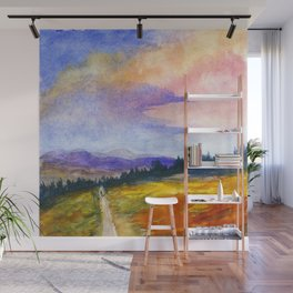 The Good Life, Landscape Watercolor Painting Wall Mural