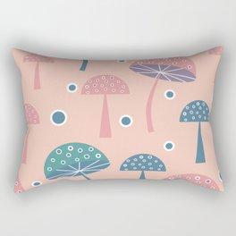Dancing mushrooms in pink Rectangular Pillow
