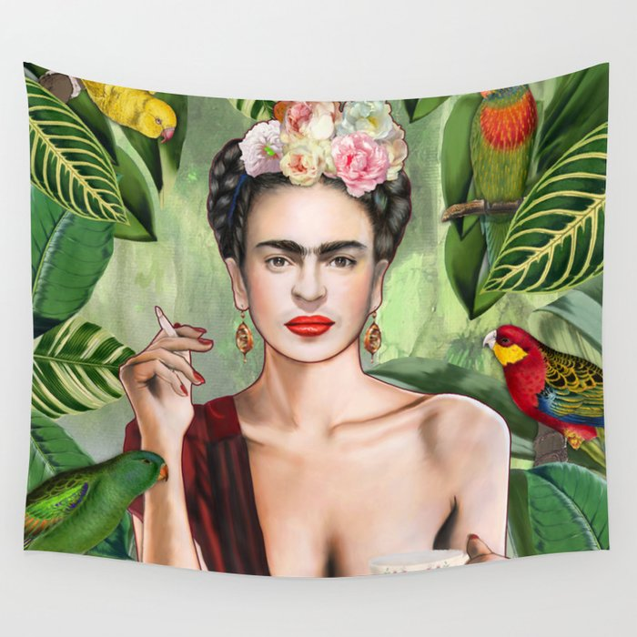 Frida con Amigos Wall Tapestry