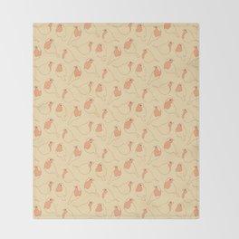 Robin's Egg in Yellow Throw Blanket