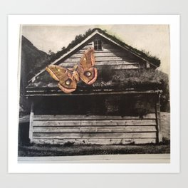 Norwegian Hut Art Print