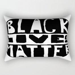 Black Lives Matter Filled Rectangular Pillow