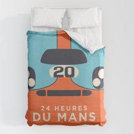 Le Mans Minimal Retro B Duvet Cover