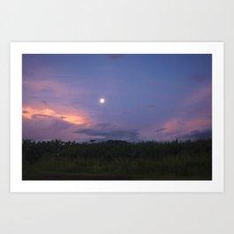 Fiji full moon Art Print