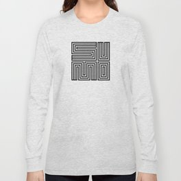SUMO SQUARE BLACK Long Sleeve T-shirt