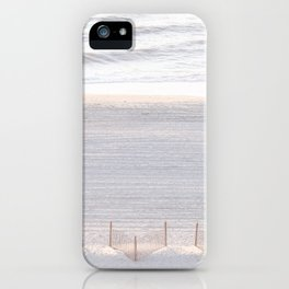Early Morning #wallart #beach #sand #sunrise iPhone Case