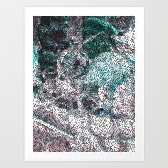 Blue romance of the shiny ones Art Print